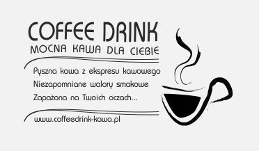 taką grafiką stempluje serwetki kawiarnia