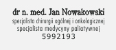 dr n. med. specjalista chirurgii ogólnej i onkologicznej oraz