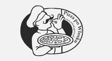 Okrągły stempel włoskiej pizzerii