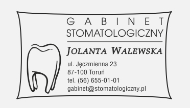 Pieczątka reklamowa dla gabinetu stomatologicznego w Toruniu