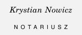 dyskretny stempel notariusza z imieniem i nazwiskiem na górze,