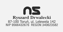 z logotypem i podstawowymi danymi.